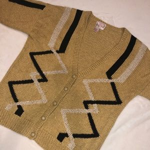 Vintage '90s Pronto Moda gold/metallic cardigan